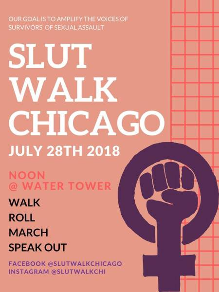 CommunityCave Supports & Strides with SlutWalk Chicago 2018