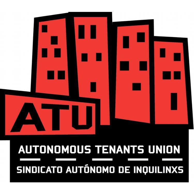 Digital drawing of red buildings with black lines and color blocking, ATU info in text.
